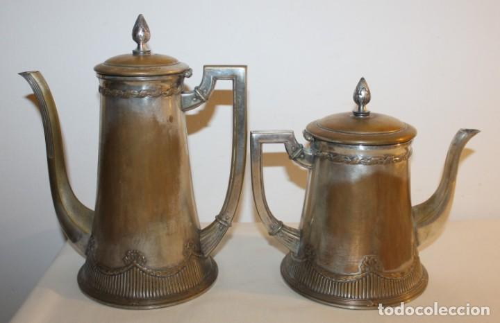 Antigüedades: JUEGO DE CAFÉ O TÉ ALEMÁN ART NOUVEAU JUGENDSTIL SELLO WMF - PRINCIPIOS DEL SIGLO XX - Foto 2 - 133810374