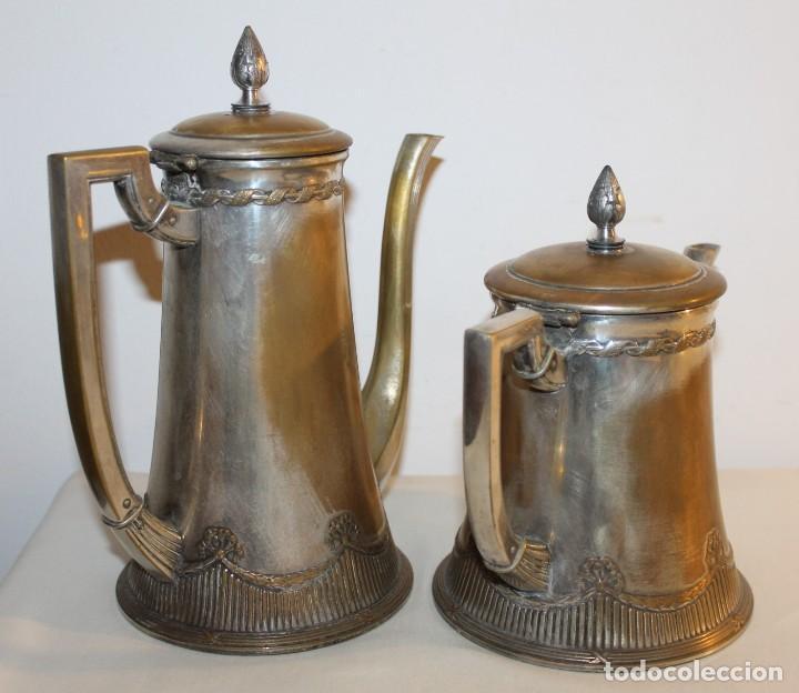 Antigüedades: JUEGO DE CAFÉ O TÉ ALEMÁN ART NOUVEAU JUGENDSTIL SELLO WMF - PRINCIPIOS DEL SIGLO XX - Foto 3 - 133810374