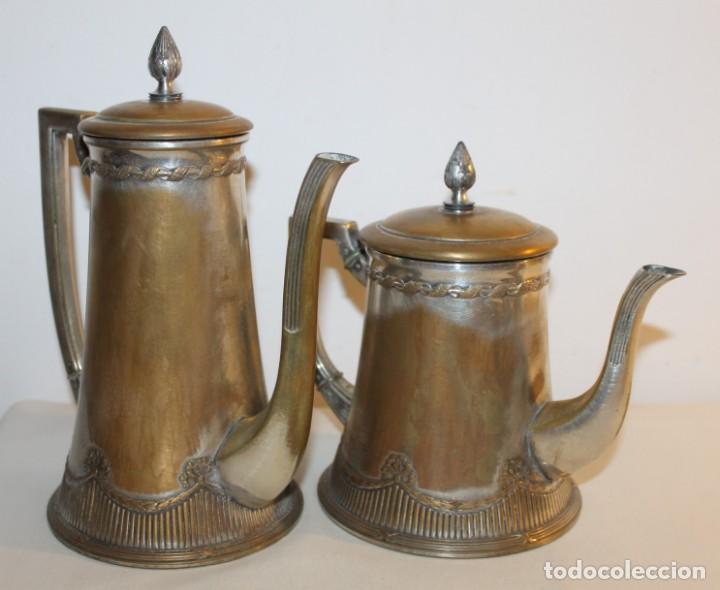Antigüedades: JUEGO DE CAFÉ O TÉ ALEMÁN ART NOUVEAU JUGENDSTIL SELLO WMF - PRINCIPIOS DEL SIGLO XX - Foto 4 - 133810374