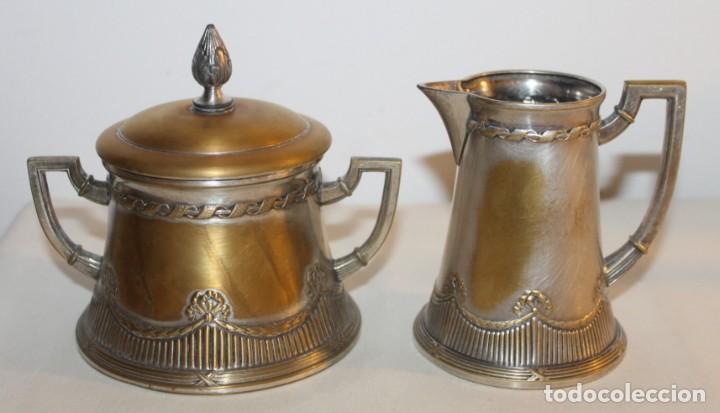 Antigüedades: JUEGO DE CAFÉ O TÉ ALEMÁN ART NOUVEAU JUGENDSTIL SELLO WMF - PRINCIPIOS DEL SIGLO XX - Foto 6 - 133810374