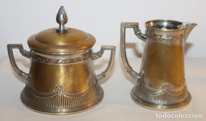 Antigüedades: JUEGO DE CAFÉ O TÉ ALEMÁN ART NOUVEAU JUGENDSTIL SELLO WMF - PRINCIPIOS DEL SIGLO XX - Foto 7 - 133810374