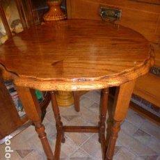 Antigüedades: ANTIGUA MESA DE MADERA DE ROBLE . Lote 133814570