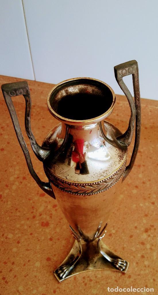 Antigüedades: ANFORA ANTIGUA PLATA OX WMF I/O - Foto 3 - 133818870