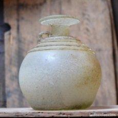 Antigüedades: PRECIOSA ANFORA LA FIORE * JARRON CON ASA * VIDRIO SOPLADO MALLORQUIN * 17CM. Lote 133845366