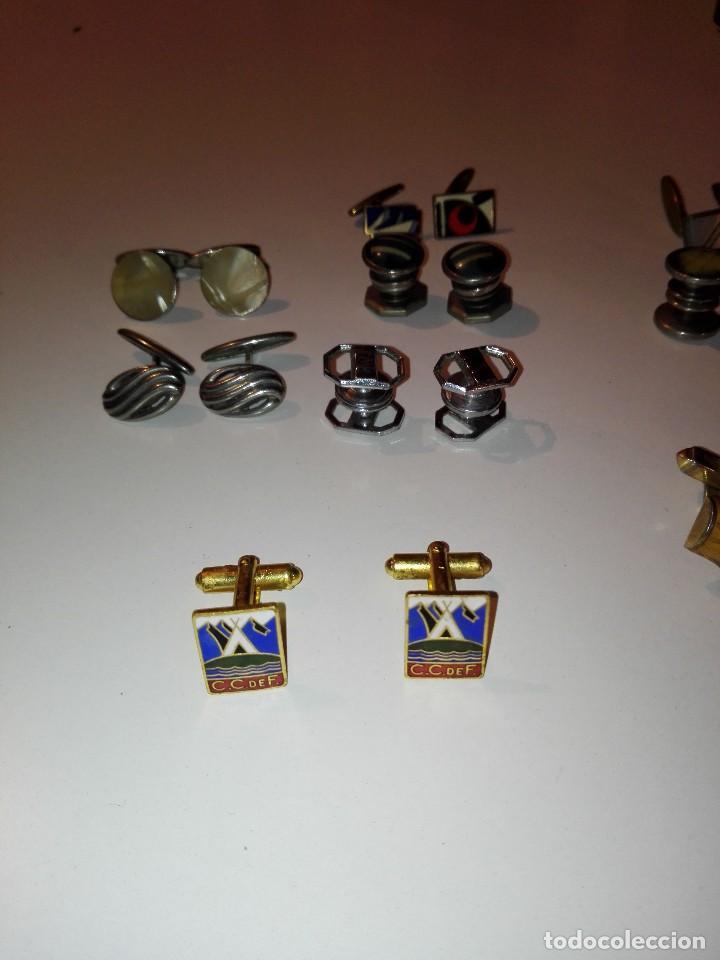 Antigüedades: PRECIOSO LOTE DE 11 PARES DE ANTIGUOS GEMELOS - Foto 4 - 133852810
