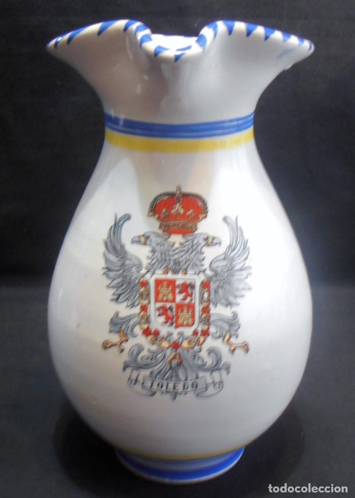 JARRA DE TALAVERA CON EL ESCUDO DE TOLEDO (Antigüedades - Porcelanas y Cerámicas - Talavera)