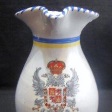 Antigüedades: JARRA DE TALAVERA CON EL ESCUDO DE TOLEDO. Lote 133864790