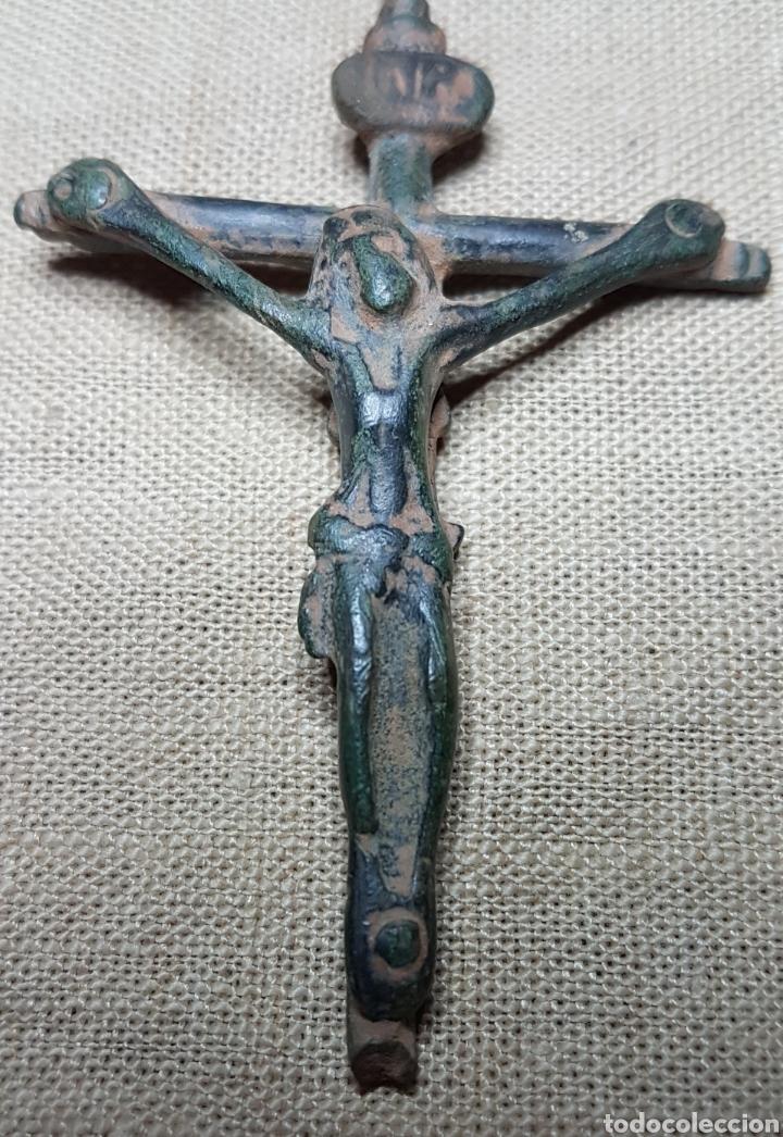 ANTIGUO CRUCIFIJO BRONCE SIGLO XVIII (Antigüedades - Religiosas - Crucifijos Antiguos)