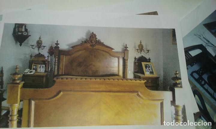 CAMA SIGLO XIX COMPLETA CON CABECERO, PIECERO LARGUEROS Y SOMIER (Antigüedades - Muebles Antiguos - Camas Antiguas)