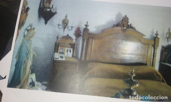 Antigüedades: Cama siglo XIX completa con cabecero, piecero largueros y somier - Foto 2 - 133867070