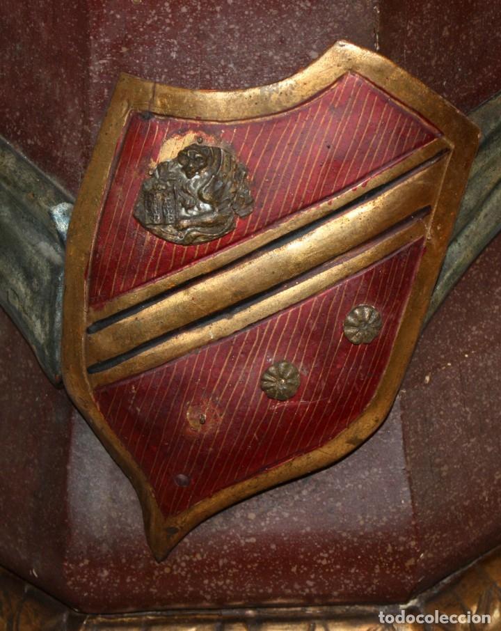 Antigüedades: IMPORTANTE TORCHERO NEGRO (VENECIANO) EN MADERA TALLADA Y POLICROMADA. APROXIMADAMENTE 1900 - Foto 29 - 133818058