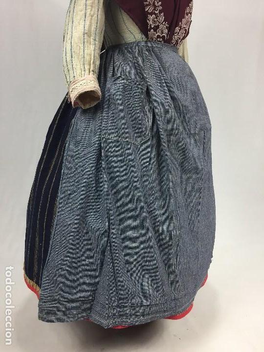 Antigüedades: Antiguo delantal de algodón - Foto 2 - 133894454