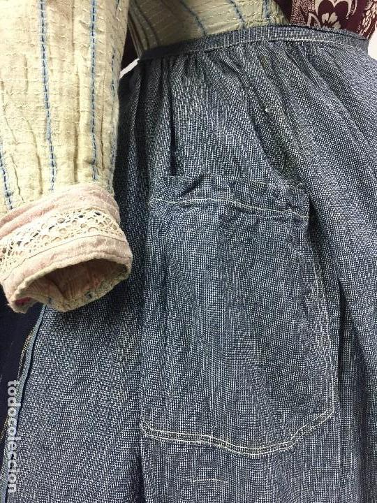 Antigüedades: Antiguo delantal de algodón - Foto 4 - 133894454