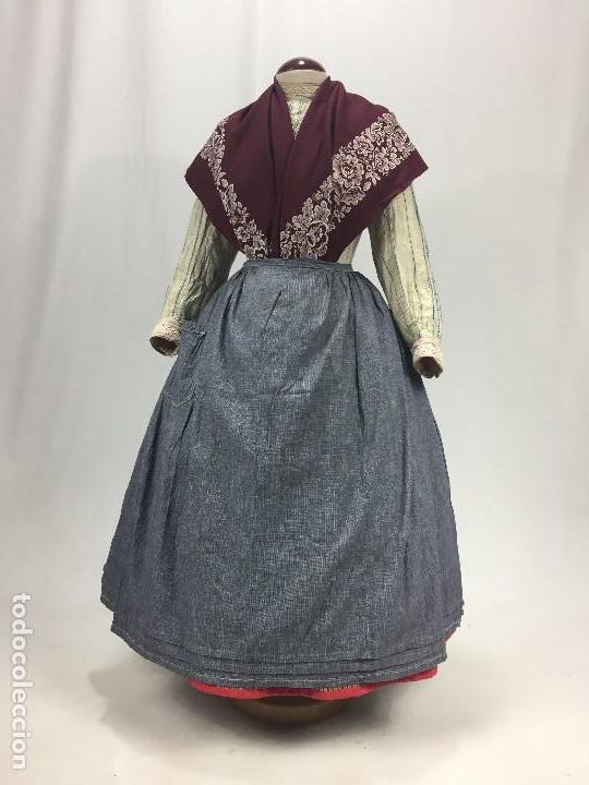 ANTIGUO DELANTAL DE ALGODÓN (Antigüedades - Moda y Complementos - Mujer)