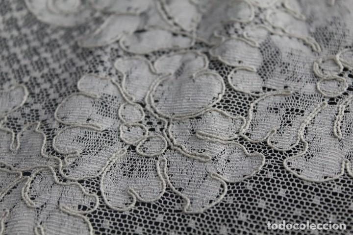 Antigüedades: 48 Tapete de encaje de Alençon antiguo 120x50 cm - Foto 6 - 133895390