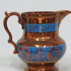 Antigüedades: JARRA DE BRISTOL DE REFLEJOS. GRANDE. BUEN ESTADO. SIGLO XIX. Lote 133912586