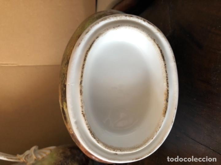 Antigüedades: PAREJA DE JARRONES DE PORCELANA - Foto 5 - 133950014