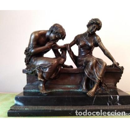 ANTIGÜA ESCULTURA DE BRONCE CLODION (Antigüedades - Varios)