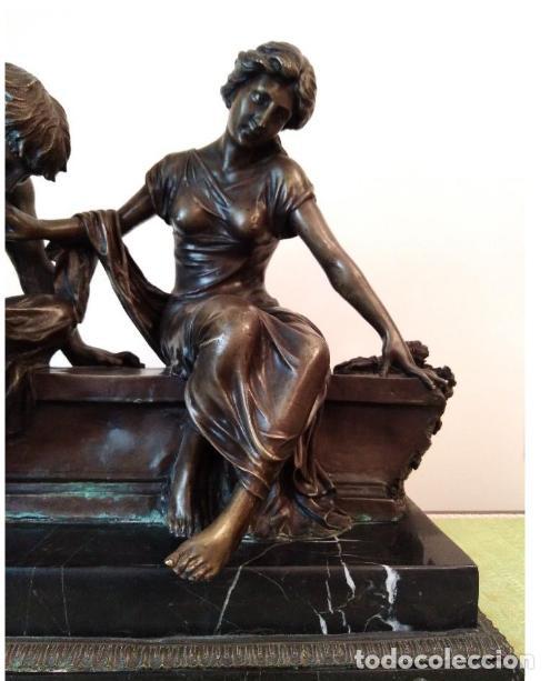 Antigüedades: Antigüa Escultura de bronce CLODION - Foto 2 - 133954698