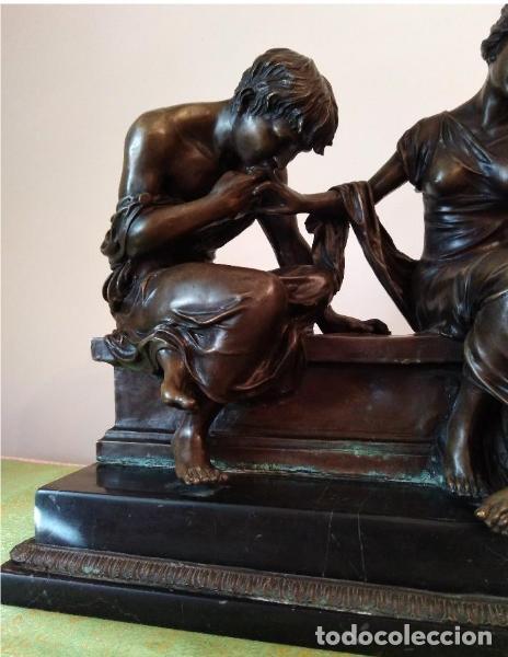Antigüedades: Antigüa Escultura de bronce CLODION - Foto 3 - 133954698