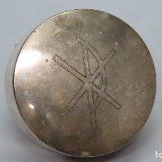 Antigüedades: BONITO HOSTIARIO PLATEADO. CRISMON. MEDIADOS SIGLO XX. Lote 133966098