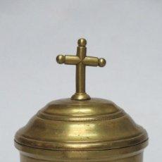 Antigüedades: GRAN HOSTIARIO DE BRONCE. SIGLO XVIII. Lote 133966458