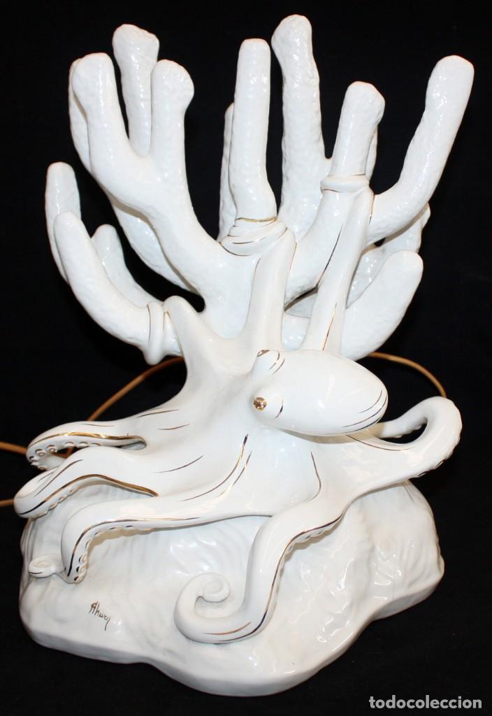 IMPORTANTE LAMPARA-PULPO DE PRESTIGIOSA CASA (AHURA) ITALIA. (Antigüedades - Iluminación - Lámparas Antiguas)