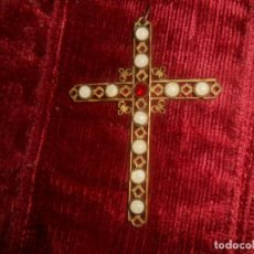 Antigüedades: CRUZ DE FILIGRANA ANTIGUA DE 9,5 CM.. Lote 134024594