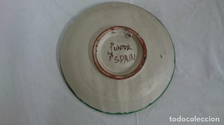Antigüedades: plato de cerámica de Teruel, muy decorativo, impecable. - Foto 2 - 134037110