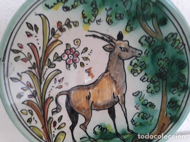 Antigüedades: plato + taza cerámica puente del arzobispo - Foto 3 - 134042586