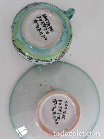 Antigüedades: plato + taza cerámica puente del arzobispo - Foto 4 - 134042586