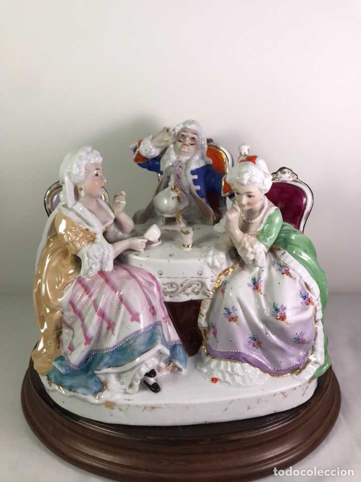 FIGURA PORCELANA- FRANCIA- HANNONG- (1770-1800) (Antigüedades - Porcelana y Cerámica - Francesa - Limoges)