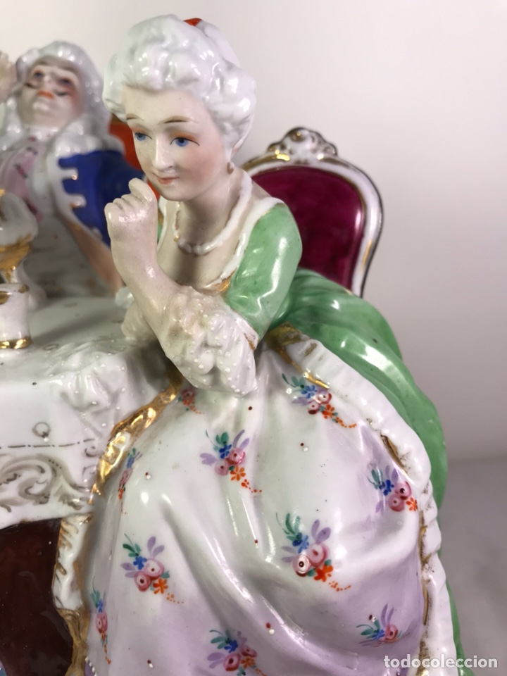 Antigüedades: Figura Porcelana- Francia- Hannong- (1770-1800) - Foto 2 - 134043205
