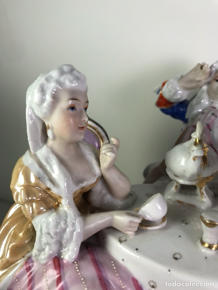 Antigüedades: Figura Porcelana- Francia- Hannong- (1770-1800) - Foto 6 - 134043205