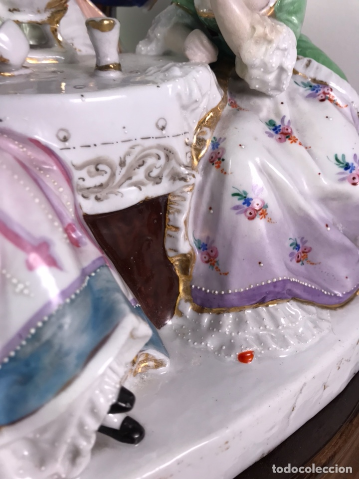 Antigüedades: Figura Porcelana- Francia- Hannong- (1770-1800) - Foto 16 - 134043205