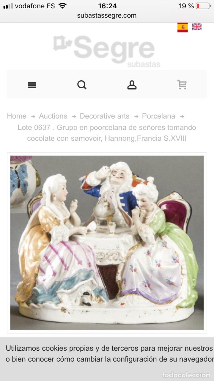 Antigüedades: Figura Porcelana- Francia- Hannong- (1770-1800) - Foto 34 - 134043205