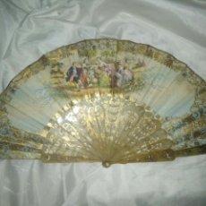 Antigüedades: PRECIOSO ABANICO ISABELINO 1860 APROX.... Lote 134080123