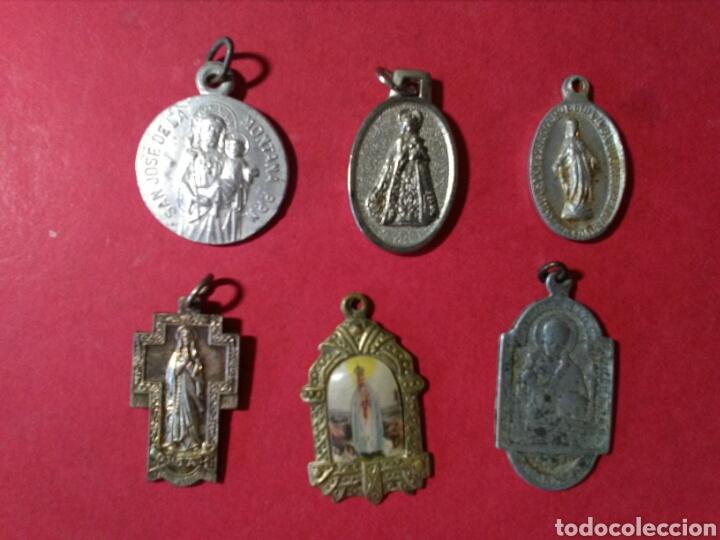 LOTE DE 6 MEDALLAS RELIGIOSAS. (Antigüedades - Religiosas - Medallas Antiguas)