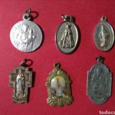 Antigüedades: LOTE DE 6 MEDALLAS RELIGIOSAS.. Lote 134082011