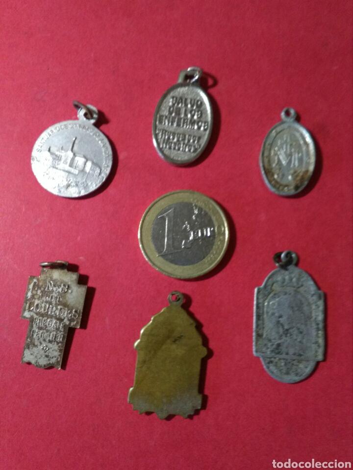 Antigüedades: LOTE DE 6 MEDALLAS RELIGIOSAS. - Foto 2 - 134082011