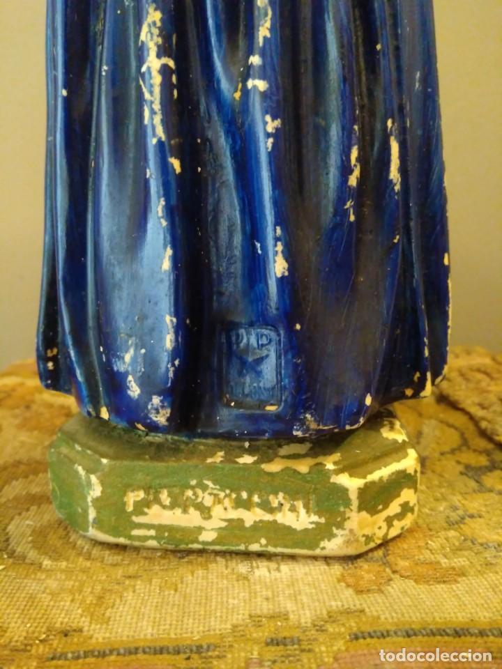 Antigüedades: SAN BERNADETT - SELLO PP DEPOSE - ALTURA 31 CM - YESO POLICROMADO - Foto 8 - 134093426