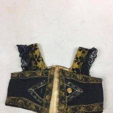 Antigüedades: ANTIGUO CORSÉ, CORPIÑO DE SEDA Y ORO. Lote 134093906