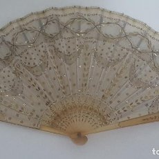 Antigüedades: ABANICO DE BAILE O BODA - SIGLO XIX – PERFECTO ESTADO. Lote 134099570