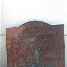 Antigüedades: PLACA DE CHIMENEA CON CÁMARA DE AIRE. Lote 134115534