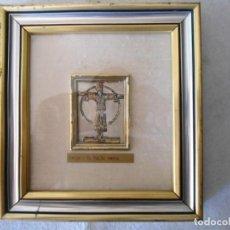 Antigüedades: CUADRO CON LAMINA DE PLATA DE SAN LUCAS. Lote 134124478