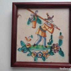 Antigüedades: AZULEJO DE FIGURA.VALENCIA ,SIGLO XVIII,SERIE CHINESCA. Lote 134128822
