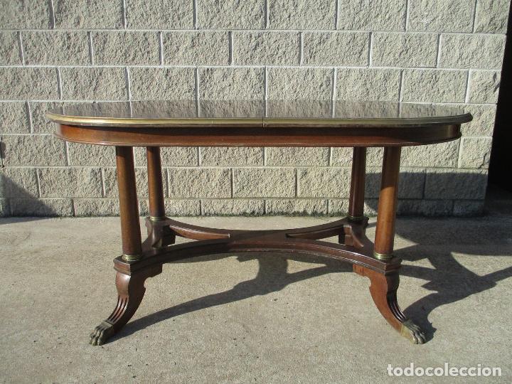 mesa de comedor ovalada - madera de caoba - bor - Kaufen Antike ...