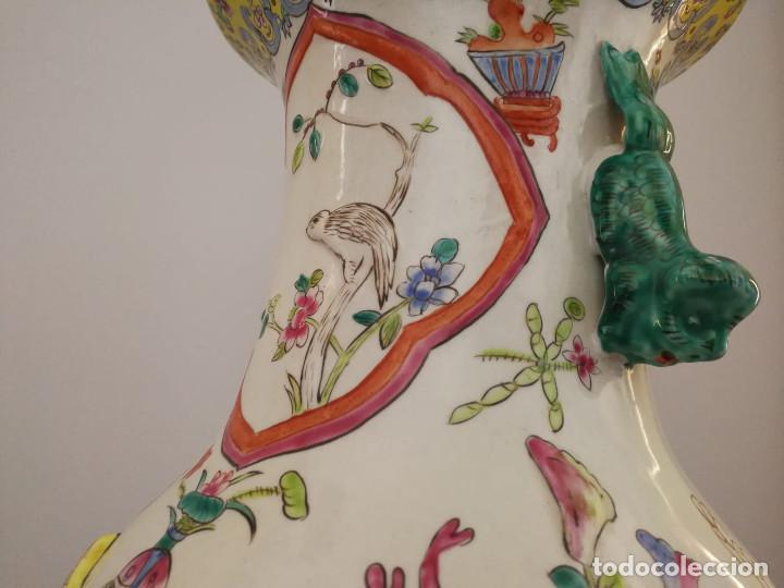 Antigüedades: GRAN JARRÓN CHINO CON RELIEVES - SELLADO - Foto 5 - 134220110