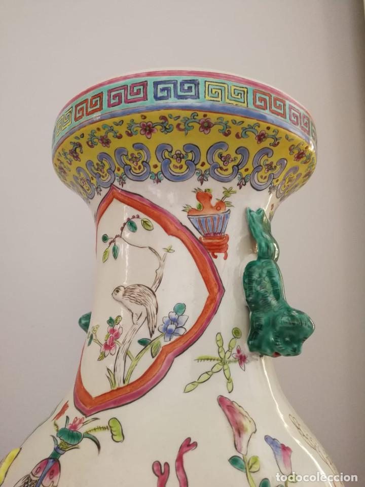 Antigüedades: GRAN JARRÓN CHINO CON RELIEVES - SELLADO - Foto 6 - 134220110