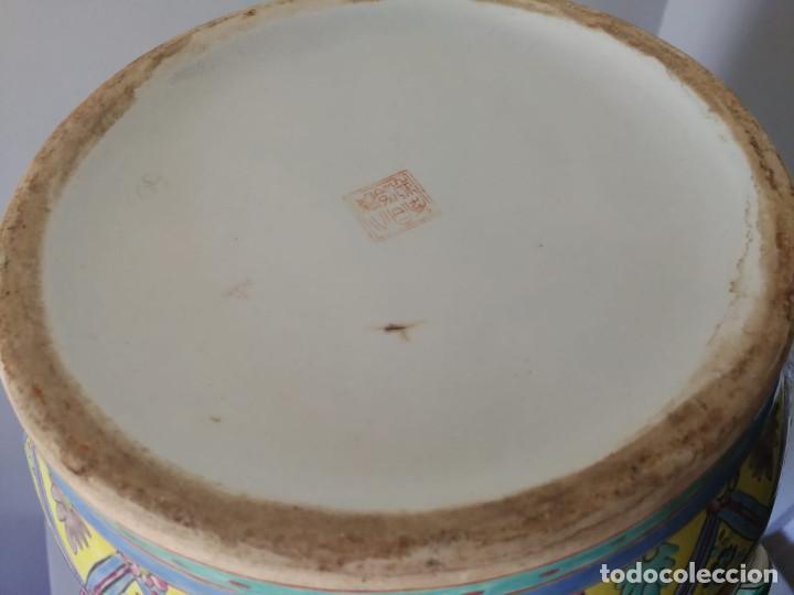 Antigüedades: GRAN JARRÓN CHINO CON RELIEVES - SELLADO - Foto 13 - 134220110